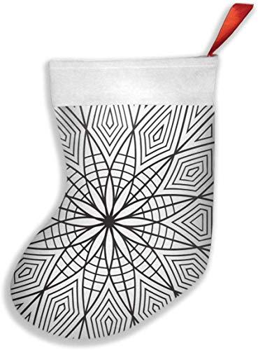 tyui7 Abejorro para Colorear Calcetines de Navidad geométricos Calcetín Decoración de Regalo Personalizada para Vacaciones de Navidad