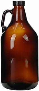 32oz (1 Quart) Glass Growler (1) with poly seal cap