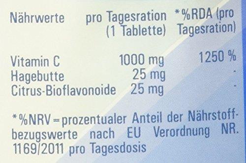 Vitasyg Vitamin C 1000 mg plus Bioflavonoide, für Immunsystem, Haut, Zähne und Knorpel – 500 Tabletten, 1er Pack (1 x 650 g) - 5