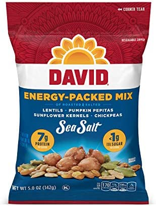 DAVID Seeds Sea Salt Energy Packed Mix for Snacking 5 Oz Pack Of 8 product image