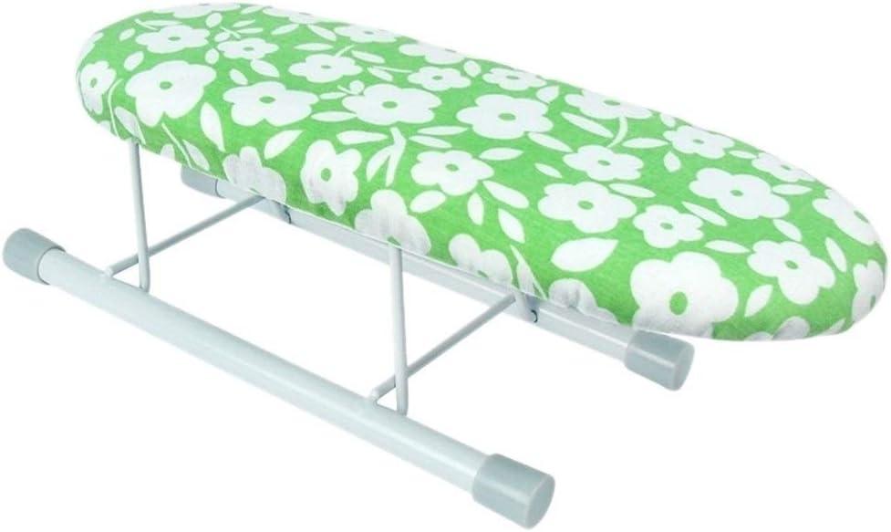Piernas Nueva Tabla de Planchar Inicio de Viaje portátil Manga puños Mini Tabla con Plegables (Color : Green)