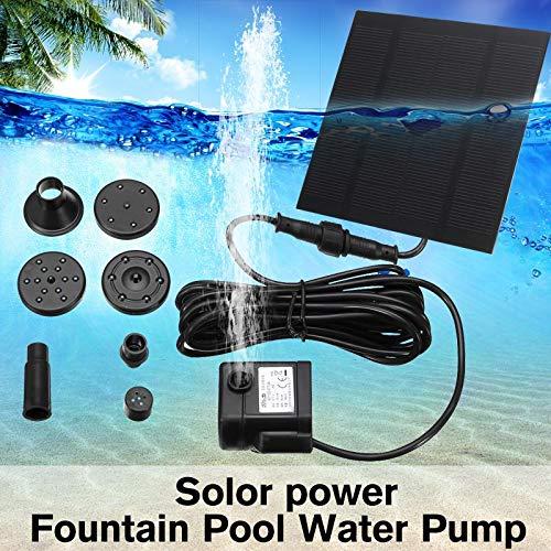 SISHUINIANHUA 7 V 114mA Solar Power Schwimmender Brunnen Wasserpumpe Für Gartenteich Pool Aquarium Pumpe Landschaft Pool Garten Dekorative Brunnen