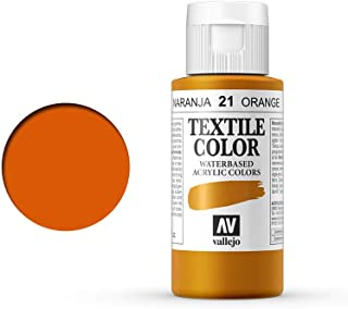 Textile Color Semiopaco 21 Naranja Vivo 60ml