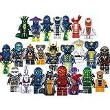 Shhjjyp 24 Pièces/Ensemble Blocs De Construction Ninjago Briques Figurines Jouets pour Enfants avec Boîte