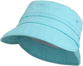 Connectyle Toddler Boys UPF 50+ UV Sun Protection Hat Large Brim Summer Safari Hat Bucket Sun Hats Aqua Blue