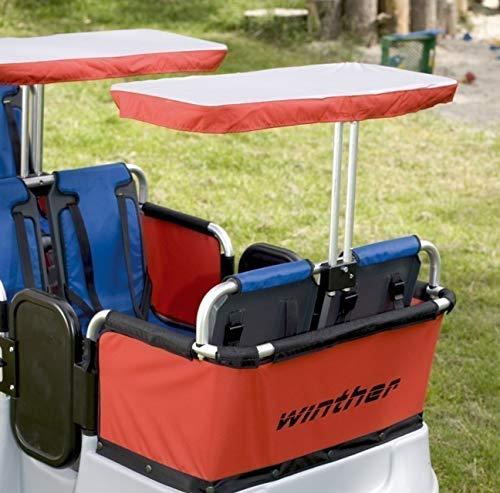 Turtle Kinderbus Sonnenschutz von Winther, als Zubehör für den 6-Sitzer oder den 4-Sitzer Turtlebus geeignet