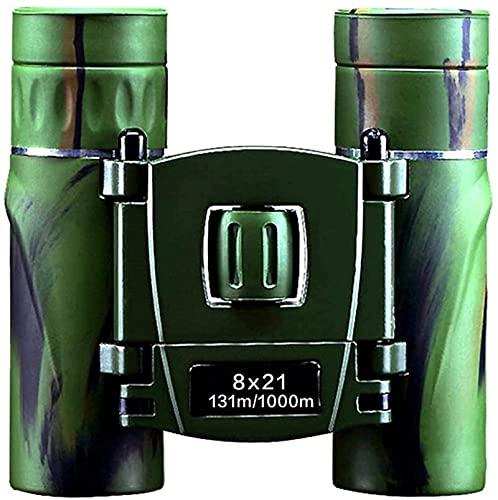 dh-4 Binoculares de Camuflaje Plegables 8X21 Binoculares compactos Impermeables Bak4 FMC Optics...