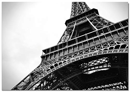 Panorama Lienzo Paris Torre Eiffel 50 x 35 cm Impreso en Lienzo Bastidor Cuadros Decoración Salón Cuadros para Dormitorio Cuadros Lienzos Decorativos Cuadros Modernos