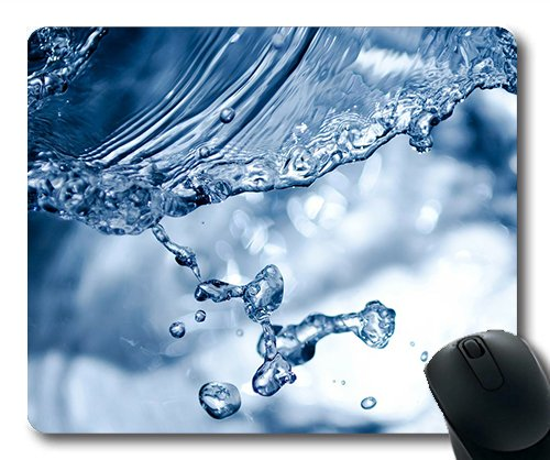 (Precision lock edge mouse pad) Splashing Splash Aqua Water Rain Pouring Photo Gaming mouse pad mouse mat for mac or computer