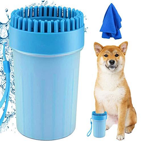 Haustier Pfotenreiniger, Hunde Pfotenreiniger mit Microfaser Handschuh Tragbarer Hunde Pfote...