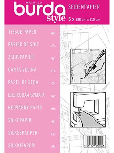 Burda Z001610 2Gtis | Schneider-Seidenpapier | 110 x 150 cm, rose, Einheitsgröße