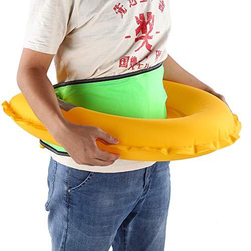 01 Cinturón Inflable Manual, Cinturón Inflable Gran Durabilidad y Resistencia al Desgaste Tubo Rojo para Carga Manual de Aire para Navegación para Pesca(Fluorescent Green)