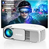 Bluetooth Projector, WiMiUS 7200 Lux Upgrade Full HD Video Projector 1920 x 1080