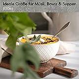 KIVY® Müslischalen 6er Set [850 ml] - Extra Groß für Müsli, Bowls & Suppen - Müslischale Groß - Bowl Schüssel Set- Suppenschüsseln Groß - Ramen Schüssel - Suppenschale Bunt - Schalen Set - 2