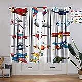 Tenda decorativa per aeroplani, giocattoli per divertimenti automatizzata per infanzia, motivo cartoni animati, per ufficio, soggiorno, 160 x 160 cm, colore: rosso, blu, bianco