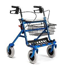 FabaCare Rollator met volledige uitrusting, vouwen wandelhulp, standaard roller 286i, kleur blauw*