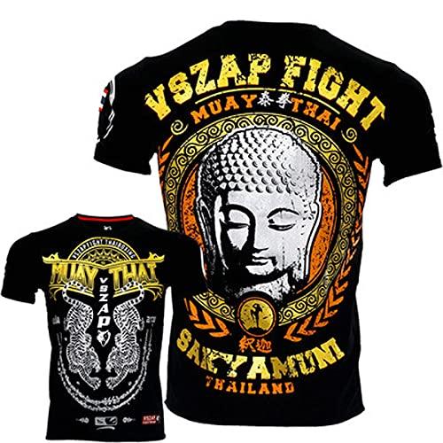 HUAN Tailandia Fitness SS MMA Muay Thai T-Shirt Muay Thai Fighting Sports Buddha UFC L