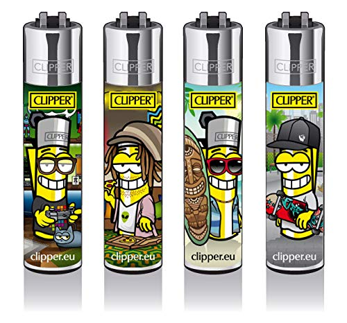 Clipper® Feuerzeuge - Clipperman Subculture - 4er Set