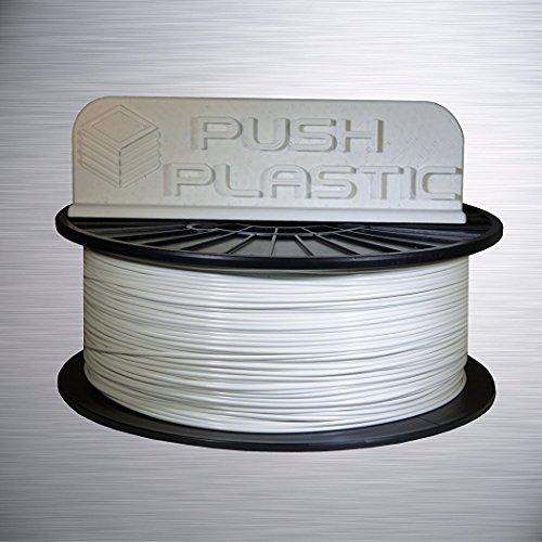 Push Plastic 1.75mm White PLA Filament 1kg (2.2 lbs) spool