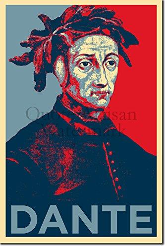 The Pop Culture King Dante Alighieri Stampa Artistica 'Hope' - Poster Fotografico Idea Regalo Artwork - Divine Comedy - Dimensioni: 30 x 20 cm