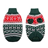Queenmore Turtleneck Dog Sweater, Warm Dog Christmas Sweater, Knitted Dog Clothes for Small, Medium Dogs