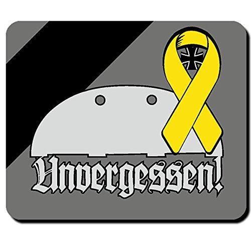 Unvergessen Erkennungsmarke Bundeswehr Gefallener Soldat Gedenken Mauspad #9581
