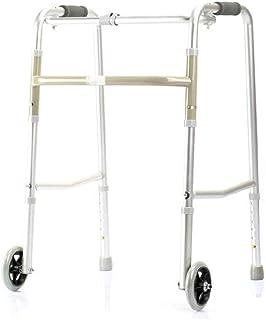 FYYONG 歩行器 高さ調整 固定型 手すりウォーカー高齢者障害者歩行支援四足松葉杖リハビリテーションアルミニウム合金ダブルプーリー59cmx50cmx78cmノンスリップウォーキングスティックで病院 介護用品 歩行補助具 歩行補助器