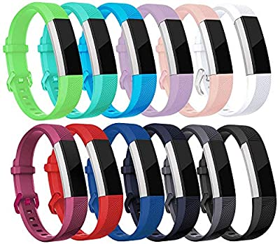 BEEKk Set of 12 Colorful Replacement Fitness Wrist Bands for Garmin Vivofit with Clasps - Fitness Bracelet -(No Tracker, Replacement Bands Only)
