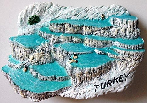 Pamukkale (Hierápolis) Turquía resina de alta calidad 3d imán de nevera nevera tailandés hecho a mano Craft.