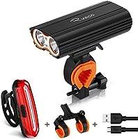 Fietsverlichting, Ryaco Usb Oplaadbare Fiets Koplamp Licht 2400 Lumen Koplamp Set Met 4400mah, 2x Led, 4 Modi, Ip65...