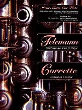Telemann Concerto No 1 In D Major Corrette Sonata In E Minor Flute Book/CD