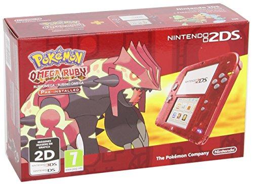 Nintendo 2DS - Consola, Color Transparente Rojo + Pokémon Rubí Omega (preinstalado)
