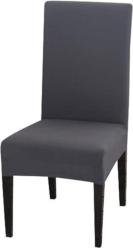 PADGENE Housse de Chaise, 4PCS/6PCS Extensible Amovible Lavable Moderne Couverture de Chaise pour Salle à Manger Slip...