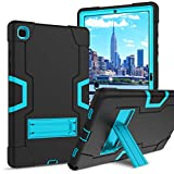 BENTOBEN Samsung Galaxy Tab A7 10.4 Case 2020 SM-T500 T505 T507, 3 in 1 Heavy Duty Shockproof Rugged Hybrid Hard Soft Bumper Drop Protective Anti-Scratch Tablet Case for Galaxy Tab A7 2020, Black/Blue
