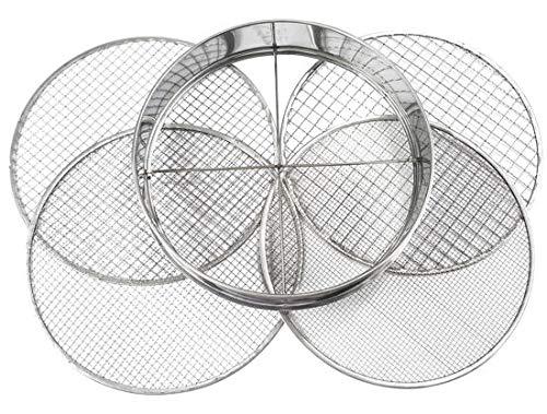 Practicool Gartensieb, Edelstahl,4austauschbaren Sieben (3 mm, 6 mm, 9 mm, 12mm)