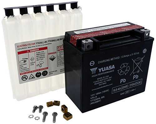 YUASA accu YTX 20HL-BS onderhoudsvrij (AGM) Prijs incl. wettelijke garantie van de accu € 7,50 incl. BTW