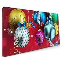 メリークリスマス マウスパッド デスクマット 400x900mm ゲーミング用 オフィス用 防水 滑り止め 大型 おしゃれ