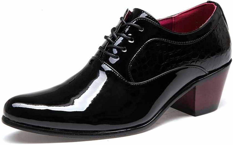Männer Casual Derby Schuhe Schuhe Schuhe Neue Spitzen Business Kleid Schuhe Britische Hochzeit Schuhe ( Farbe   schwarz 1 , Größe   41 ) d3a73c