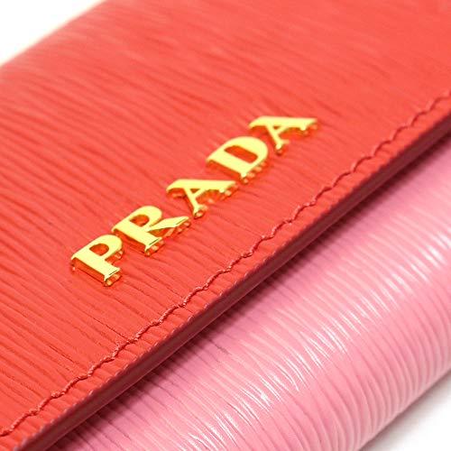 PRADA(プラダ)1PG2222CBLF0SJIVITELLOMOVELACCA+GERANIOレッド+ピンクレディースキーケース[並行輸入品]
