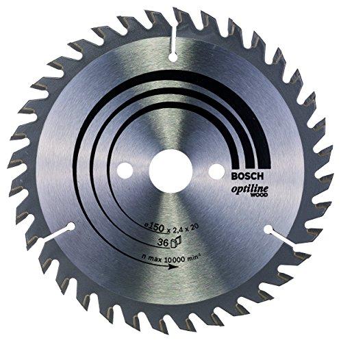 Bosch 2 608 640 593 - Hoja de sierra circular Optiline Wood - 150 x 20/16 x 2,4 mm, 36 (pack de 1)