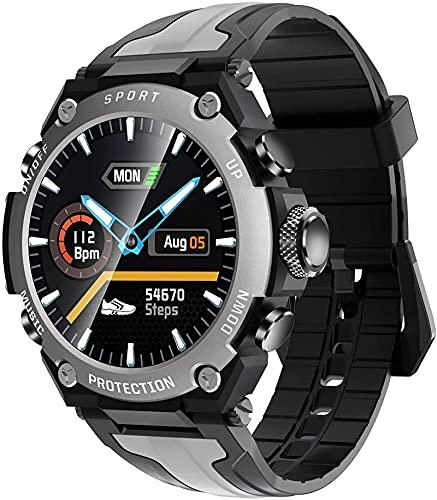 ZXCVBNN Smart Watch, Pantalla de 1.3 Pulgadas, Multi-dial, música Local, RECORDATORIO DE Mensaje, Pulsera Deportiva al Aire Libre (Color: Negro)