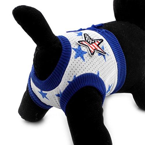 Zunea - pañal para perros, Pañales de algodón reutilizables y lavables para cachorro, perro, suaves y cortos, para uso diario