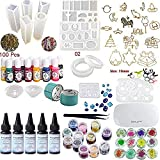 Crystal Clear Transparent Epoxy Resin UV Glue Kit with Lamp Tweezers 13 Silicone