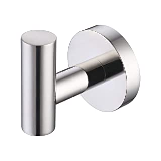 KES SUS 304 Stainless Steel Coat Hook Towel/Robe Clothes Hook for Bath Kitchen Garage Heavy Duty Wall Mounted, Polished Fi...