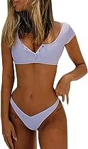 Gocheaper Women Two-Piece Swimsuit Short, Solid Short Sleeve Swimwear Bathing Suits Beachwear