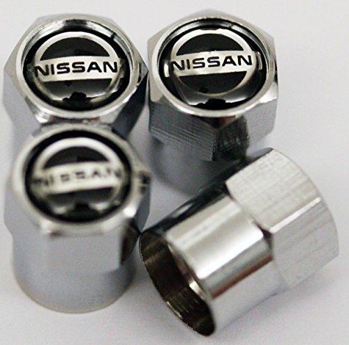 Tappi coprivalvola cromati per Nissan -