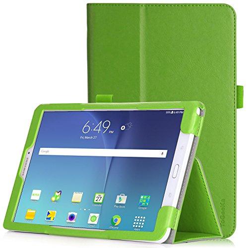 Samsung Galaxy Tab E 9.6 Hülle - iHarbort weiches PU-Leder Hülle etui Schutzhüllen Hülle Cover für Samsung Galaxy Tab E 9.6 Zoll SM-T560 T565 mit Handriemen & Kartensteckplatz, Grün