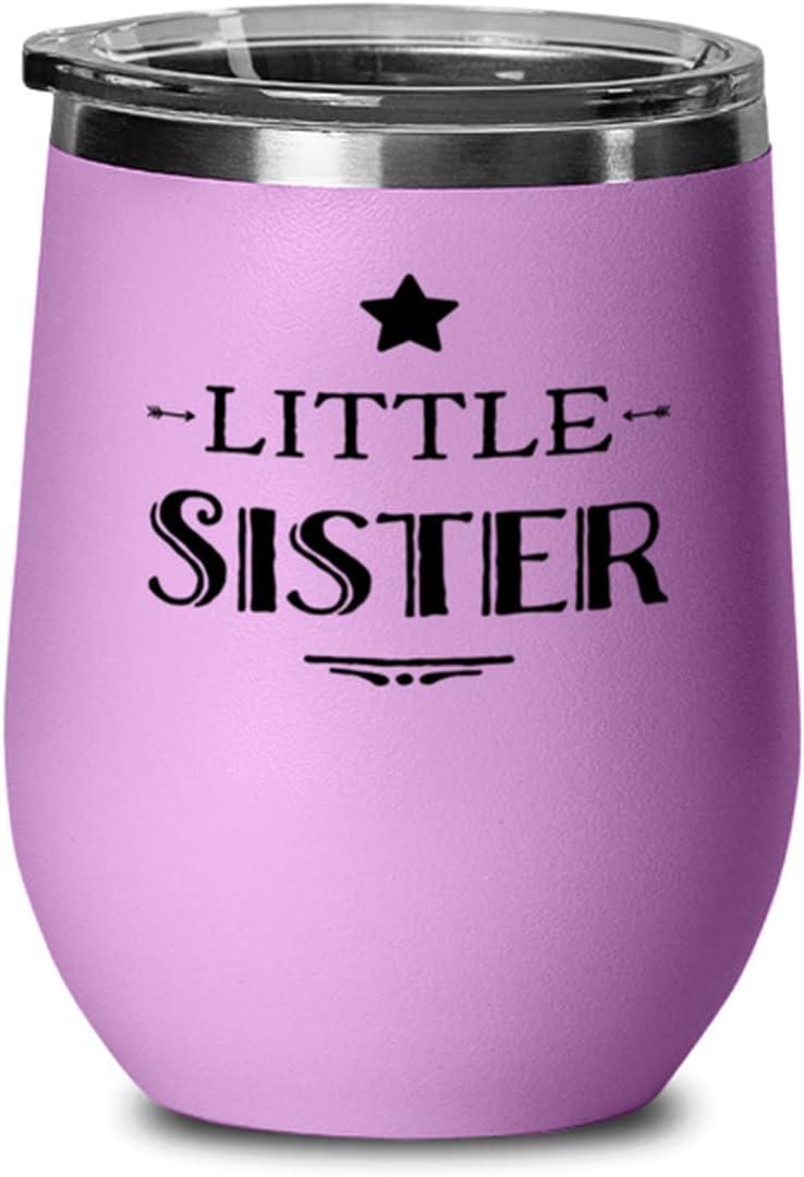 Funny Wine Glass For New York Mall Sister Little Sisterhood Bargain Sarcastic