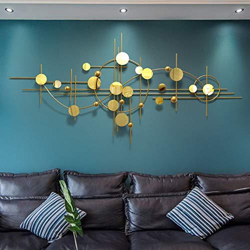 Little stars Metall-Wandbild 3D dreidimensionale Moderne minimalistische Golden Kreise und goldene LinienWanddekoration - Für Arbeitszimmer/Wohnzimmer/Schlafzimmer/Hotel