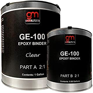 1.5 Gal Concrete Epoxy Coating GE-100. Clear Coat Epoxy Resin Kit. High Build Epoxy Resin for Floor